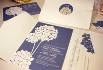 Hydrangea wedding invitation - www.etsy.com/shop/vohandmade