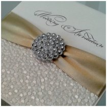 Luxury wedding invitation - www.etsy.com/shop/CrystalCoutureInvite