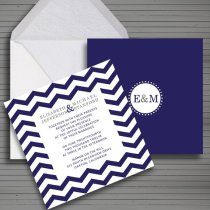 Modern chevron wedding invitation - www.etsy.com:shop:redlinecs