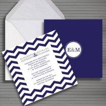 Modern chevron wedding invitation - www.etsy.com:shop:redlinecs