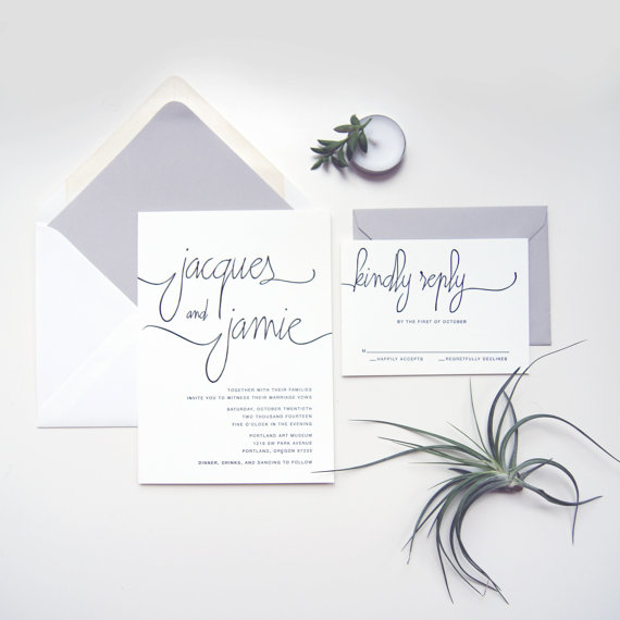 Beautiful Wedding Invitations On Etsy.com
