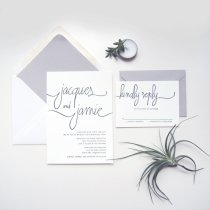 Modern minimalist wedding invitation - www.etsy.com:shop:luckypennypaperie