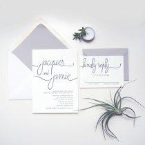 Modern minimalist wedding invitation - www.etsy.com:shop:luckypennypaperie