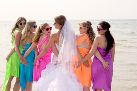 Neon bridesmaid dresses - www.etsy.com/shop/StaysiLee
