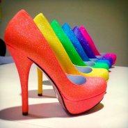 Neon glitter heels - www.etsy.com/shop/AshleyBrooksDesigns