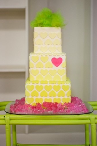Neon wedding cake inspiration {via darrahdejour.com}