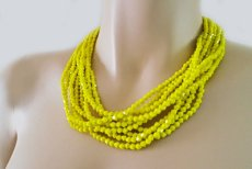 Neon yellow necklace - www.etsy.com/shop/SukranKirtisJewelry