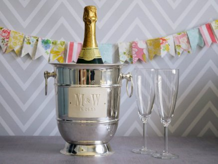 Personalised champagne ice bucket - www.etsy.com/shop/Susabellas