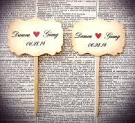Personalised cupcake toppers - www.etsy.com/shop/TimeLessThings