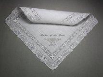 Personalised 'mother of the bride' handkerchief - www.etsy.com/shop/sophieli