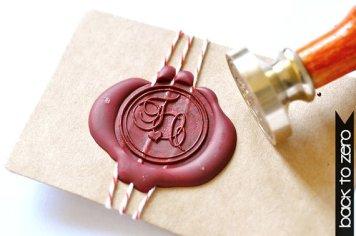 Personalised wax seal stamp - www.etsy.com/shop/BacktoZero
