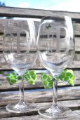 Personalised wine glasses - www.etsy.com/shop/HuffShuffLane