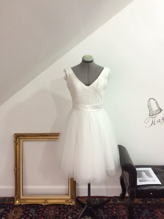 Reception dress the merry for Best etsy wedding dress shops