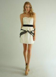 Short black and white reception dress - www.etsy.com/shop/Leanimal