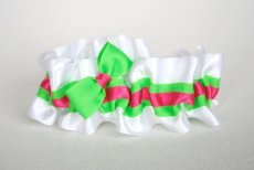 White and neon garter - www.etsy.com/shop/thegartergirl
