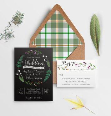 Wild flower wedding invitation - www.etsy.com/shop/QuiteFetchingInvites