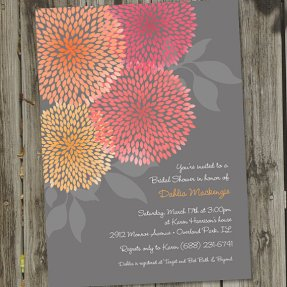 Dahlia bridal shower invitation - www.etsy.com/shop/partymonkey