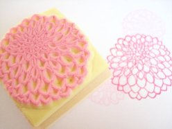 Dahlia stamp for invitations - www.etsy.com/shop/JapaneseRubberStamps