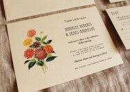 Dahlia wedding invitation - www.etsy.com/shop/KayleighDuMond