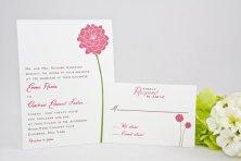 Dahlia wedding invitation - www.etsy.com/shop/Whimsicalprints