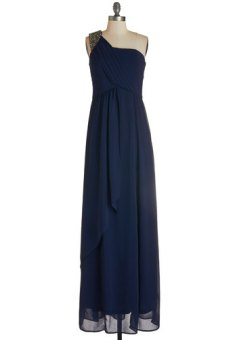 'Descending the staircase' navy bridesmaid dress - www.modcloth.com
