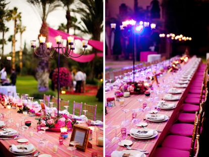 Fuchsia and gold wedding inspiration {via weddingobsession.com}
