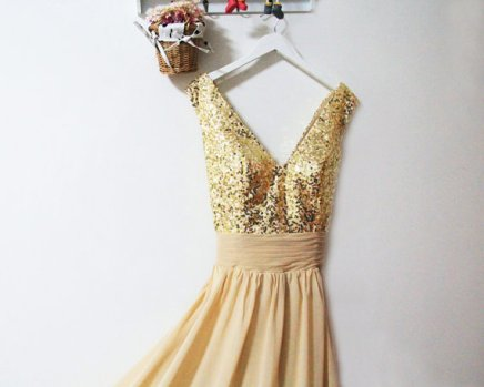 Gold bridesmaid dress - www.etsy.com/shop/FashionStreets