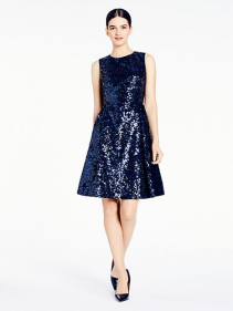 Kate Spade navy sequin dress - www.katespade.com