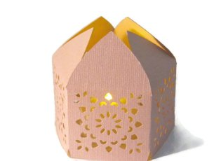 Moroccan-style paper lantern with LED candle - www.etsy.com/shop/DanielleAdlerDesign