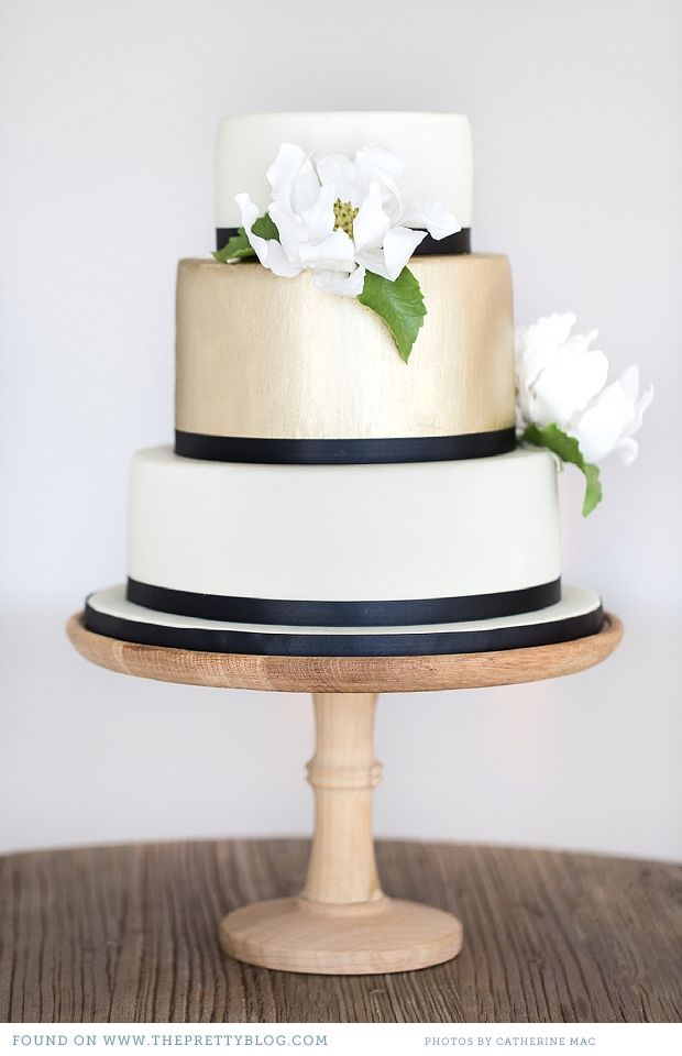 Navy And Gold Wedding Cake The Merry Bride
