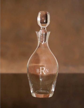 Personalised wine decanter - www.etsy.com/shop/AgapeDesignMfg