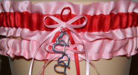 Pink and red garter - www.etsy.com/shop/WeddingGarterStore