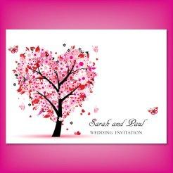 Pink and red wedding invitation - www.etsy.com/shop/ScarletRoseInvites