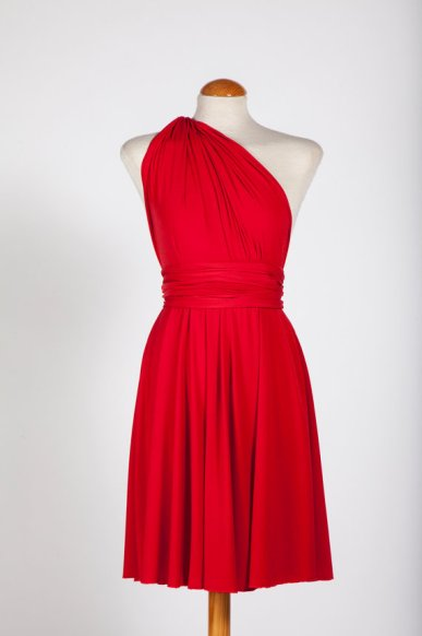Red infinity bridesmaid dress - www.etsy.com/shop/mimetik