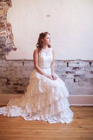 Tiered lace wedding dress - www.etsy.com/shop/thepeppermintpretty