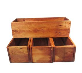 Wooden boxes for flowers or candles - www.etsy.com/shop/CountryByTheBumpkins