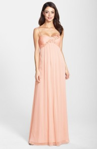 Adrianna Papell peach dress - nordstrom.com