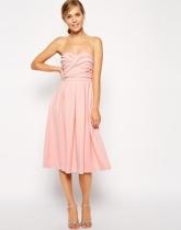 Asos bandeau midi dress, from asos.com