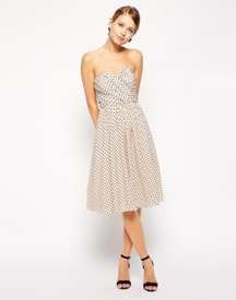 Asos bandeau spot-print dress, from asos.com