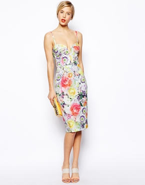 Asos floral bandeau midi dress, from asos.com