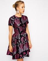 Asos floral jacquard dress, from asos.com