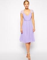 Asos lace insert midi dress, from asos.com