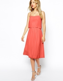 Asos midi dress with shell top, from asos.com