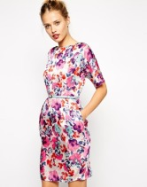 Asos mini wiggle dress in floral, from asos.com