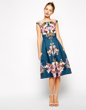 Asos vintage midi bardot dress, from asos.com