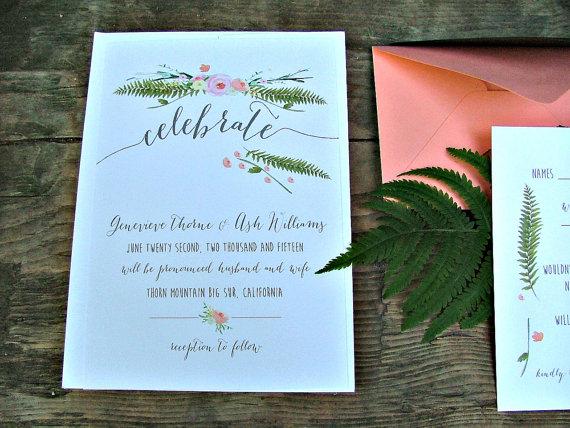 Shop Wedding Invitations: Blue Floral Wedding Invitation