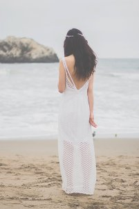 Casual beach wedding dress (US$428) - www.etsy.com/shop/ZeeandElle