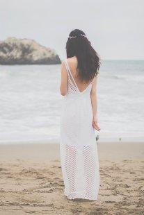 Casual beach wedding dress (US$428) - www.etsy.com/shop/ZeeandElle