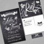 Chalkboard-style wedding invitation - www.etsy.com/shop/InvitingMoments