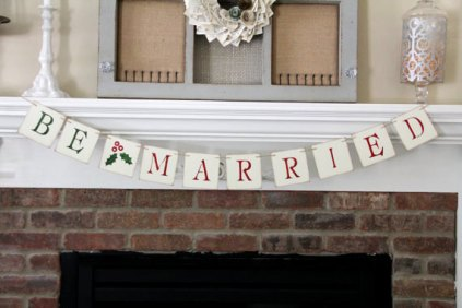Christmas wedding banner - www.etsy.com/shop/OneTinyHeart